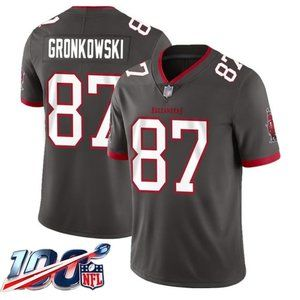 Tampa Bay Buccaneers Rob Gronkowski Gray Jersey